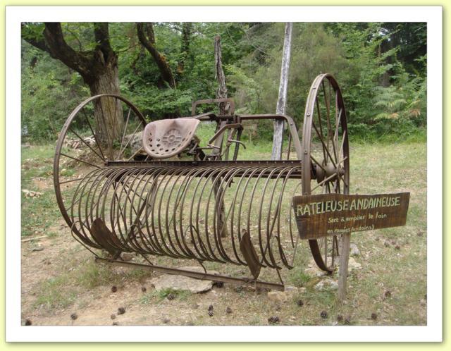 Materiel agricole ancien pour chevaux